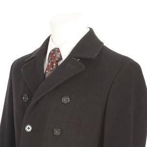 Banana Republic Black Wool Cashmere Pea Coat